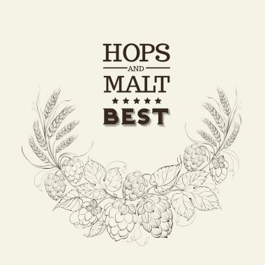 Decorative hops cover.