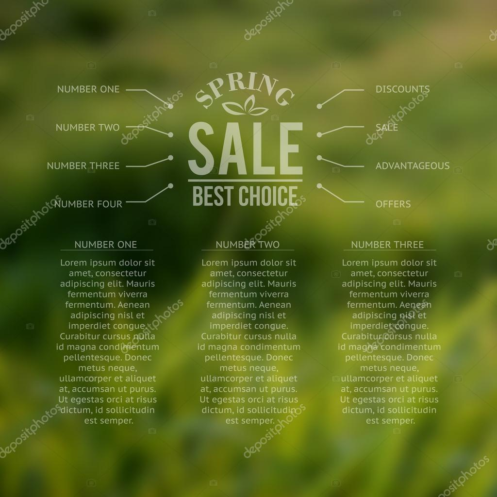 Spring sale, best choice lettering.
