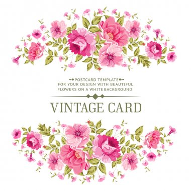 Luxurious color rose card.