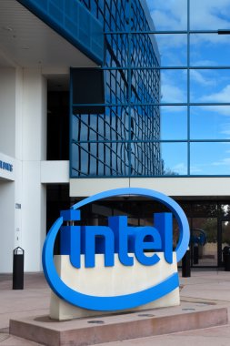 Intel Sign at Corporate Headquarters.