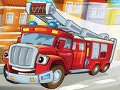 hasičský vůz na záchranu