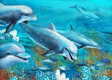 The underwater illustration