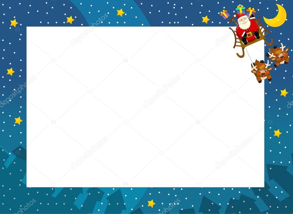la frontera de Navidad - santa en el espacio - elegante - estilo ...