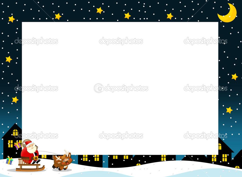 la Navidad de la frontera - marco cuadrado - elegante - elegante ...