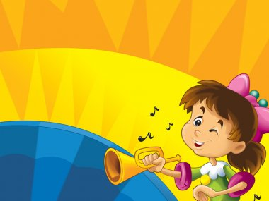 Cartoon kids with instruments
