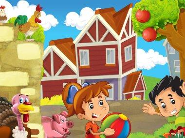 The farm illustration