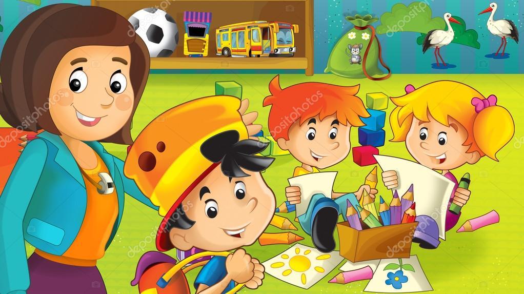 Imágenes: niños en jardines infantiles animados | el jardín de ...