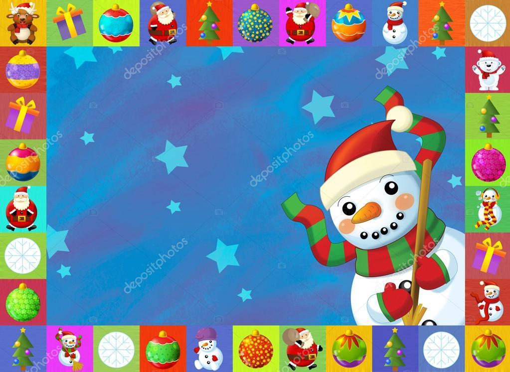 la tarjeta de Navidad con fondo claro - ilustración para los niños ...