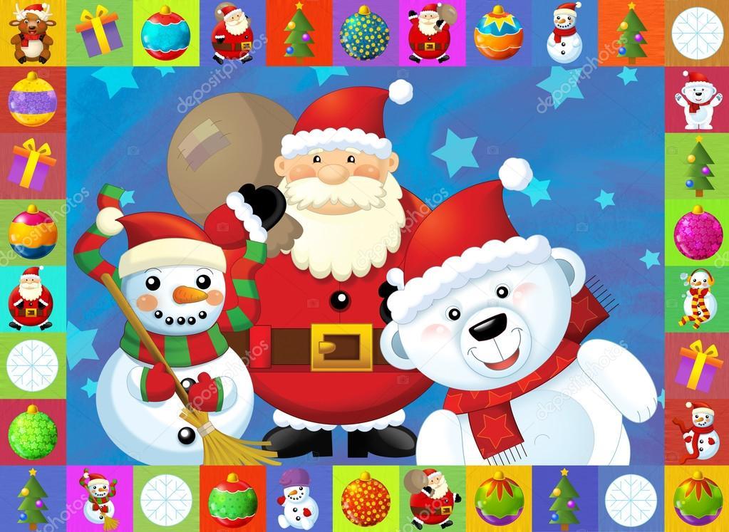 La tarjeta de navidad con fondo claro ilustraci n para - Postales de navidad con fotos de ninos ...