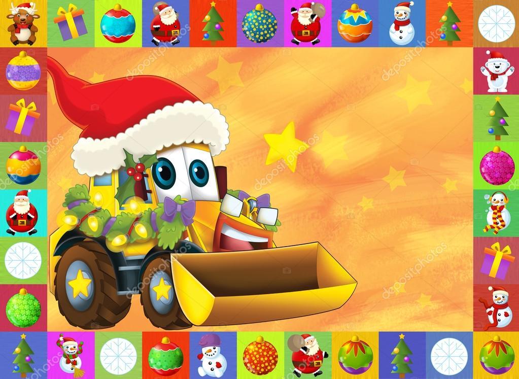 Los Tarjeta De Navidad Feliz Ilustracion Para Los Ninos Autos