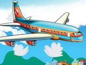 Fotografia aereo passeggeri dei cartoni animati