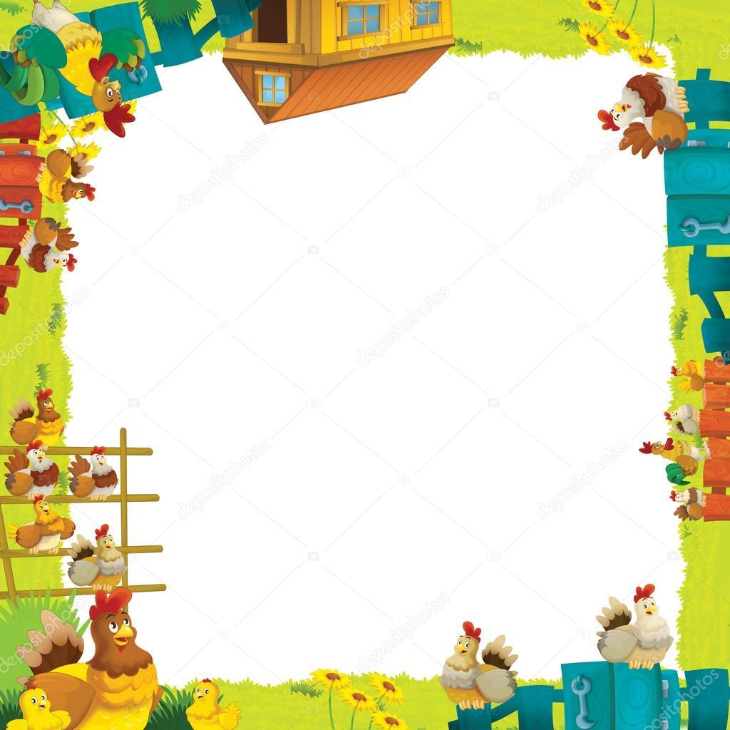 marco granja dibujos animados — Fotos de Stock © illustrator_hft ...