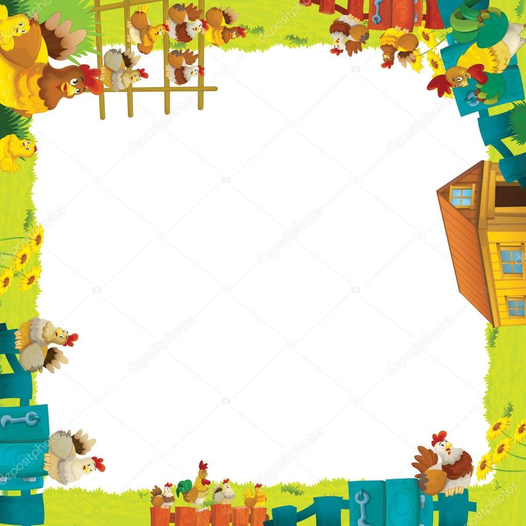 Cartoon farm frame — Stock Photo © illustrator_hft #14232245