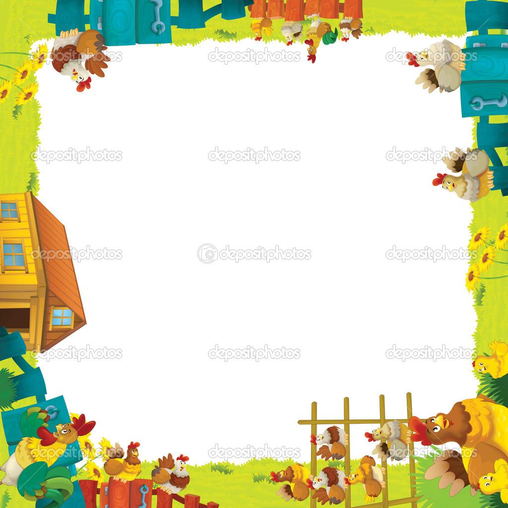 Cartoon farm frame — Stock Photo © illustrator_hft #14232573