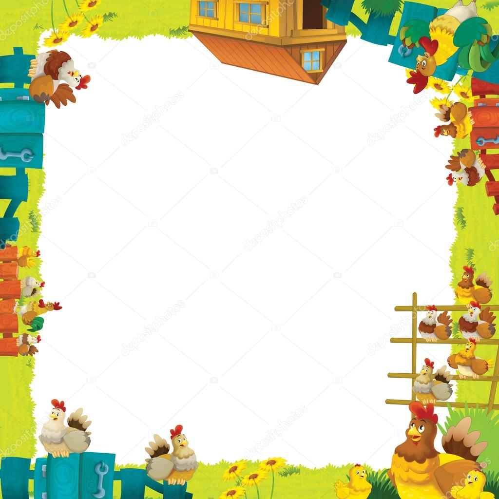 Cartoon farm frame — Stock Photo © illustrator_hft #14232937