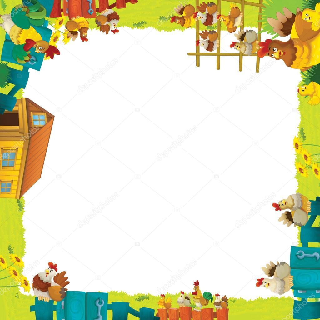 marco granja dibujos animados — Foto de stock © illustrator_hft ...