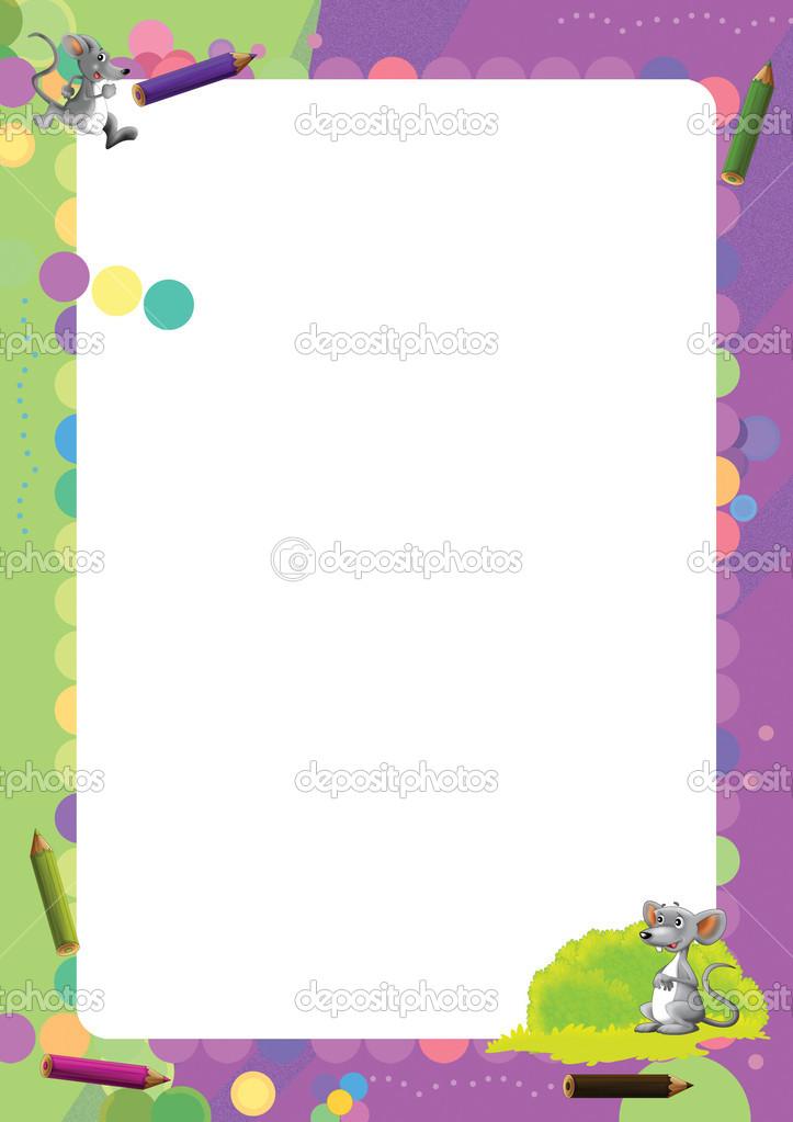 marco alegre y colorida de dibujos animados — Fotos de Stock ...