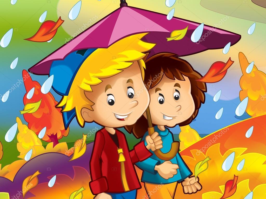 el día lluvioso en otoño — Foto de stock © illustrator_hft #14625031
