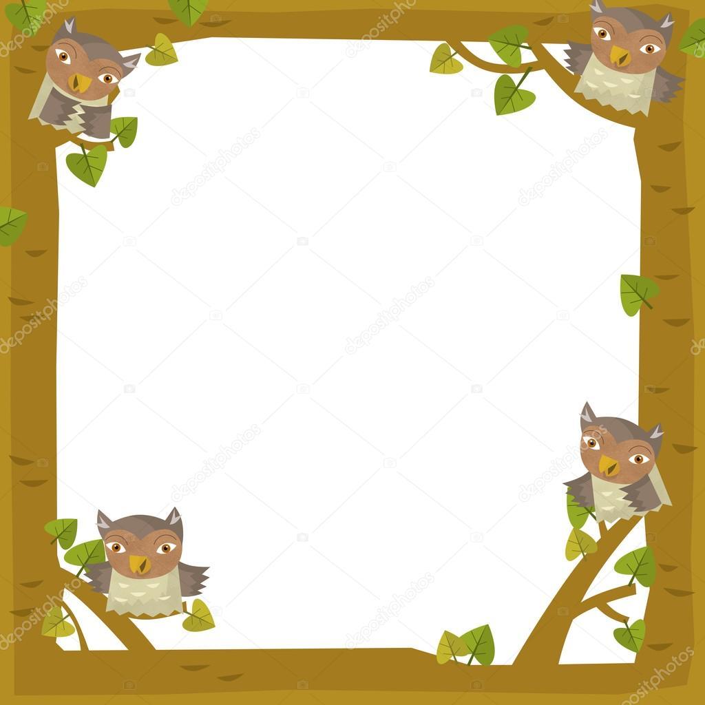 la ilustración de marco - madera - naturaleza para los niños — Foto ...