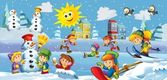 Winter fun kids