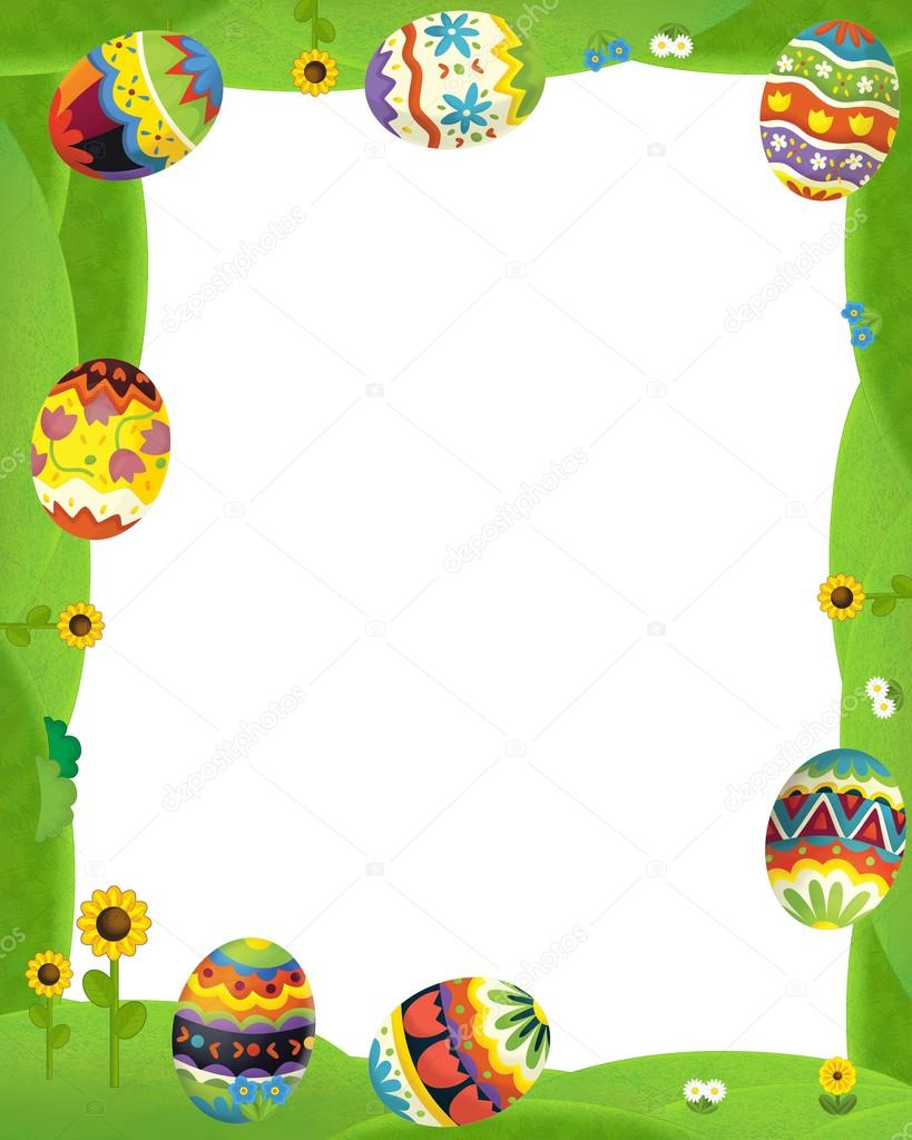 The happy easter frame — Stock Photo © illustrator_hft #21286787