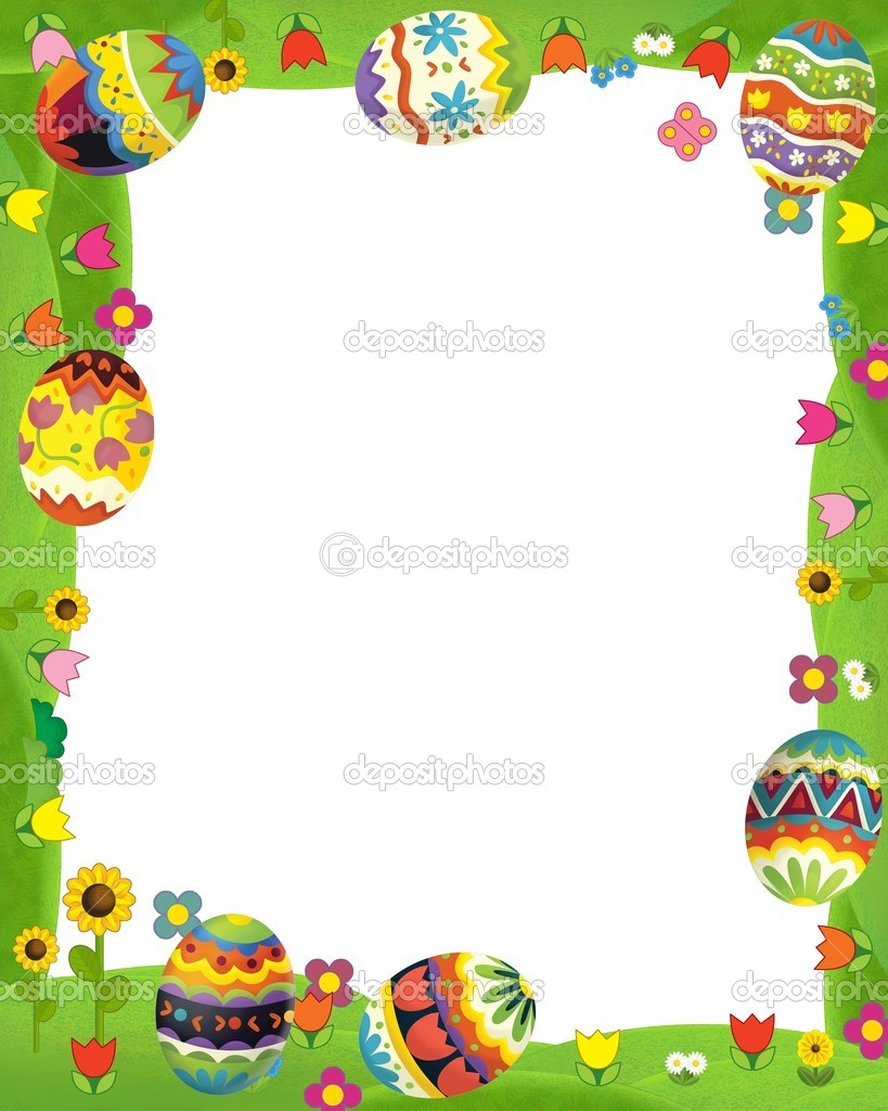 The happy easter frame — Stock Photo © illustrator_hft #21363231