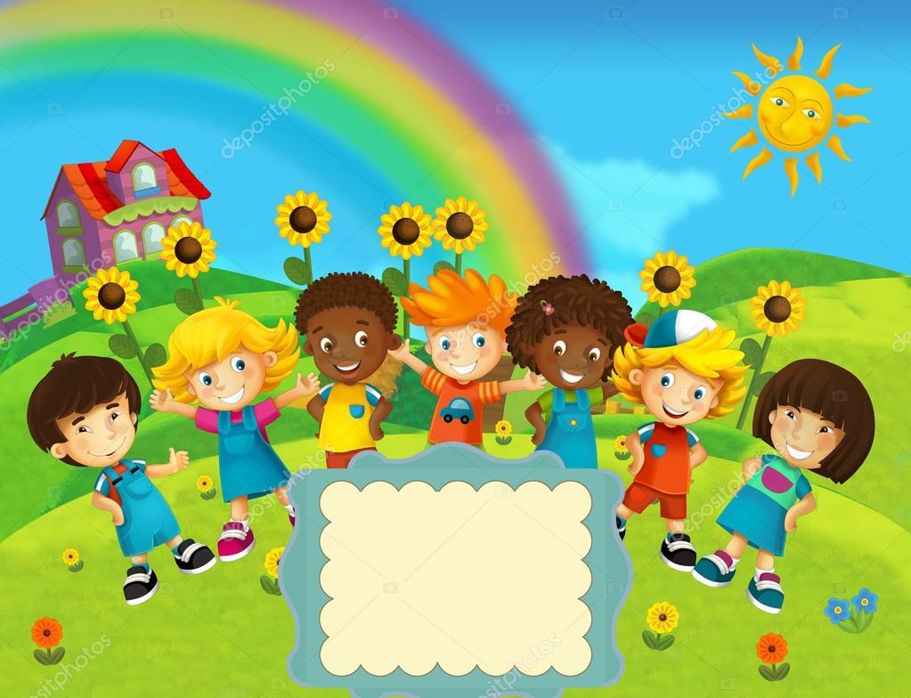Illustrazione facce bambini sorridenti l illustrazione di