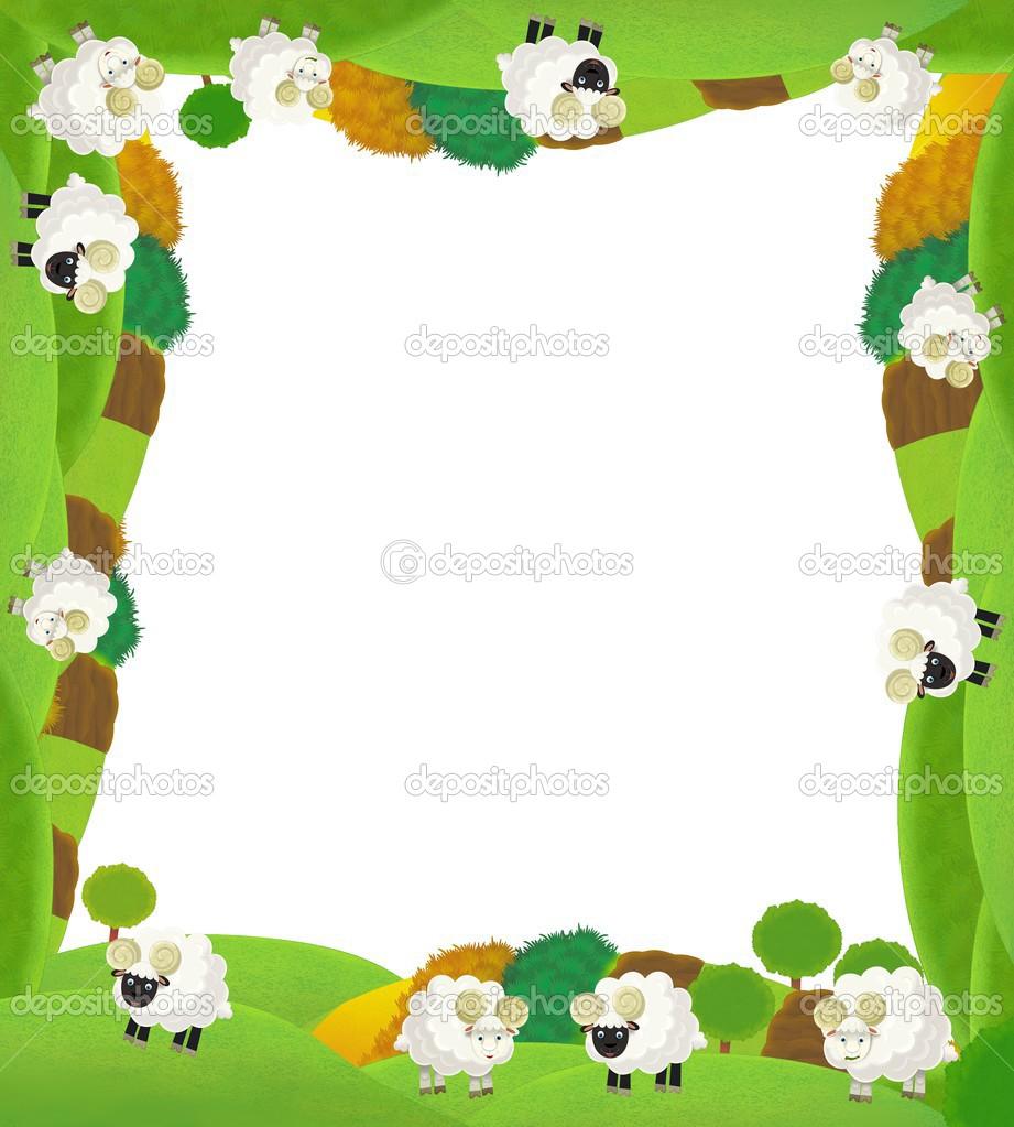 la ilustración de marco - granja - Pascua feliz para los niños ...