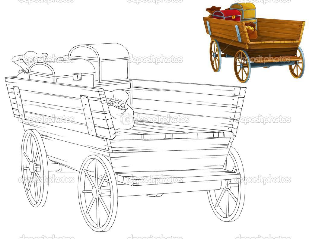 el libro de colorear con vista previa - carro viejo — Fotos de Stock ...