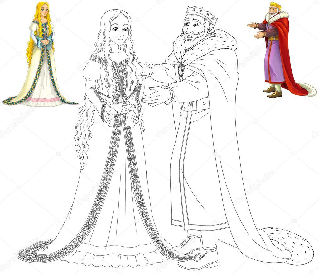 o livro de colorir com preview rei dos desenhos animados e