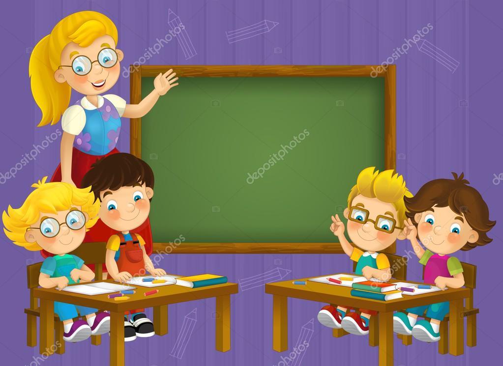 el colorante pagina - el aula - ilustración para los niños — Foto de ...