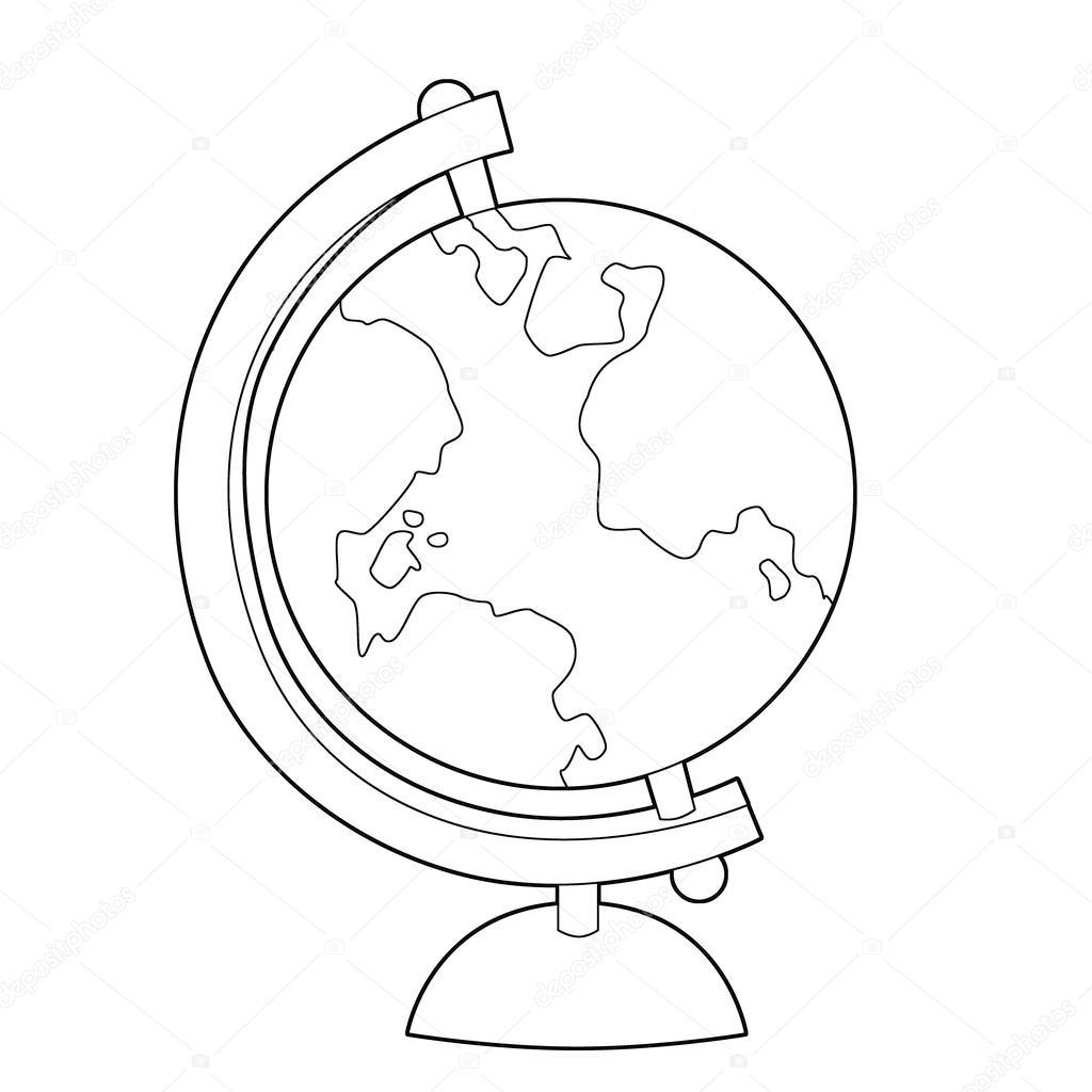 çocuklar Için Dünya Dünya Kıta Ile çizim Yüzeyi Stok Foto
