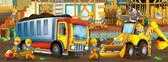 Na staveništi - ilustrace pro děti