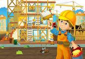 Fotografie auf der Baustelle - Illustration für die Kinder