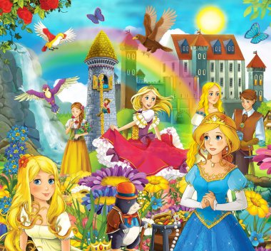 The fairy tales mush up - castles - knights and fairies