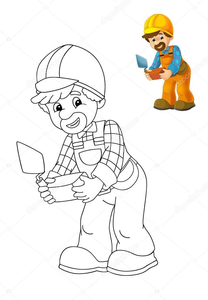 trabajador de la construcción — Fotos de Stock © illustrator_hft ...