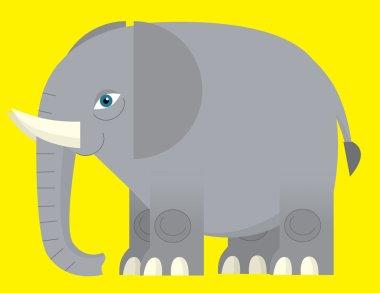 Cartoon elephant - illustration for the children stock vector