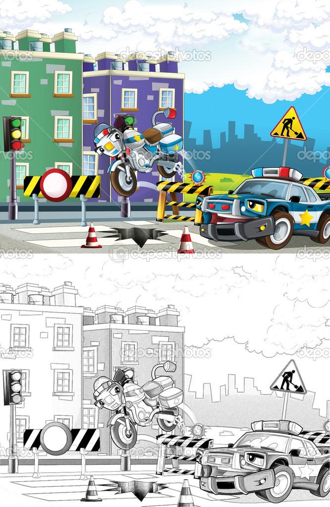 Polis Arabası Boyama