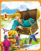pohádkové postavy - aladdin. - ilustrace pro děti