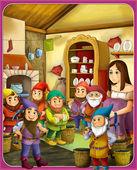 Mese karakter - Hófehérke és a hét törpe