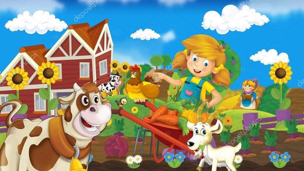 La Ilustración Feliz Para Los Niños