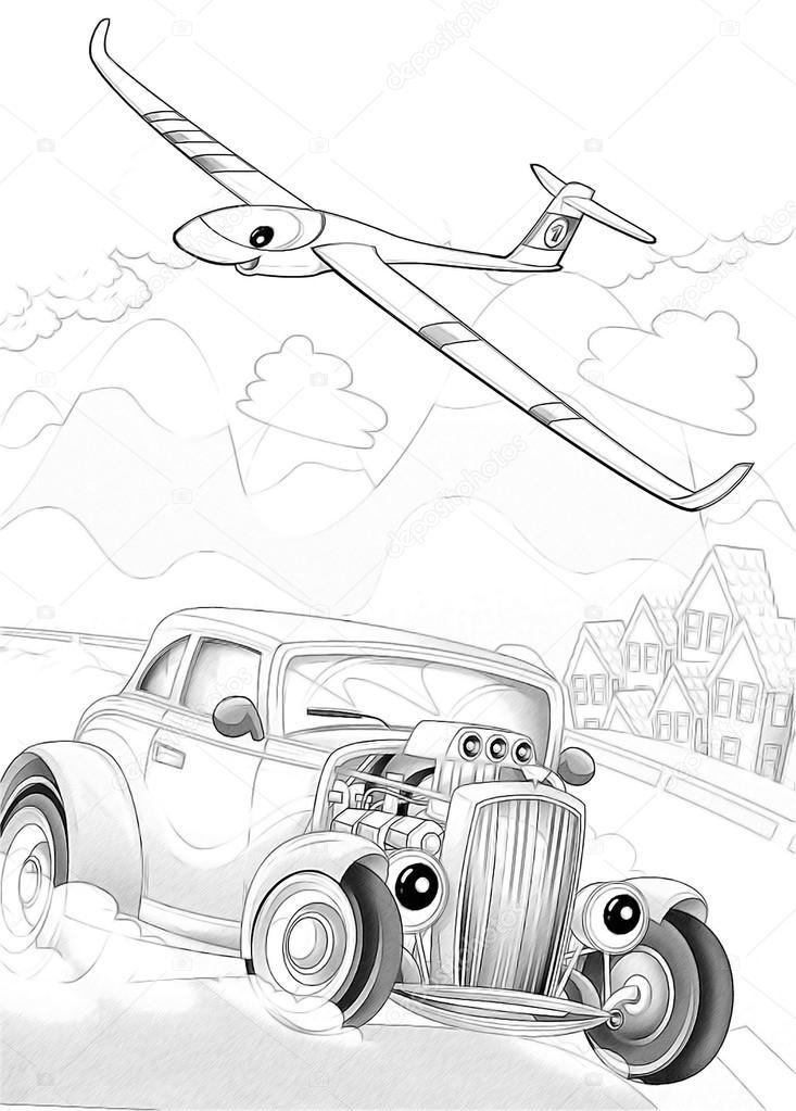 dibujo artístico para colorear de estilo de dibujos animados — Fotos ...
