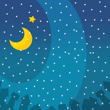 The christmas background - winter - illustration for the children stock vector