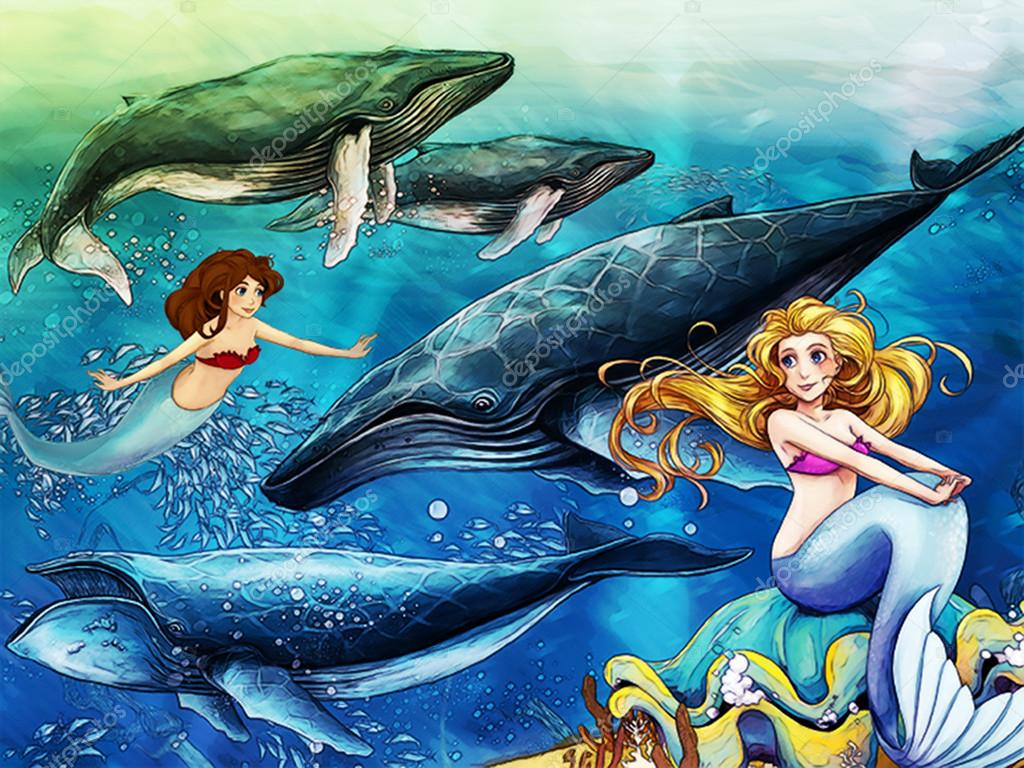 The ocean and the mermaids