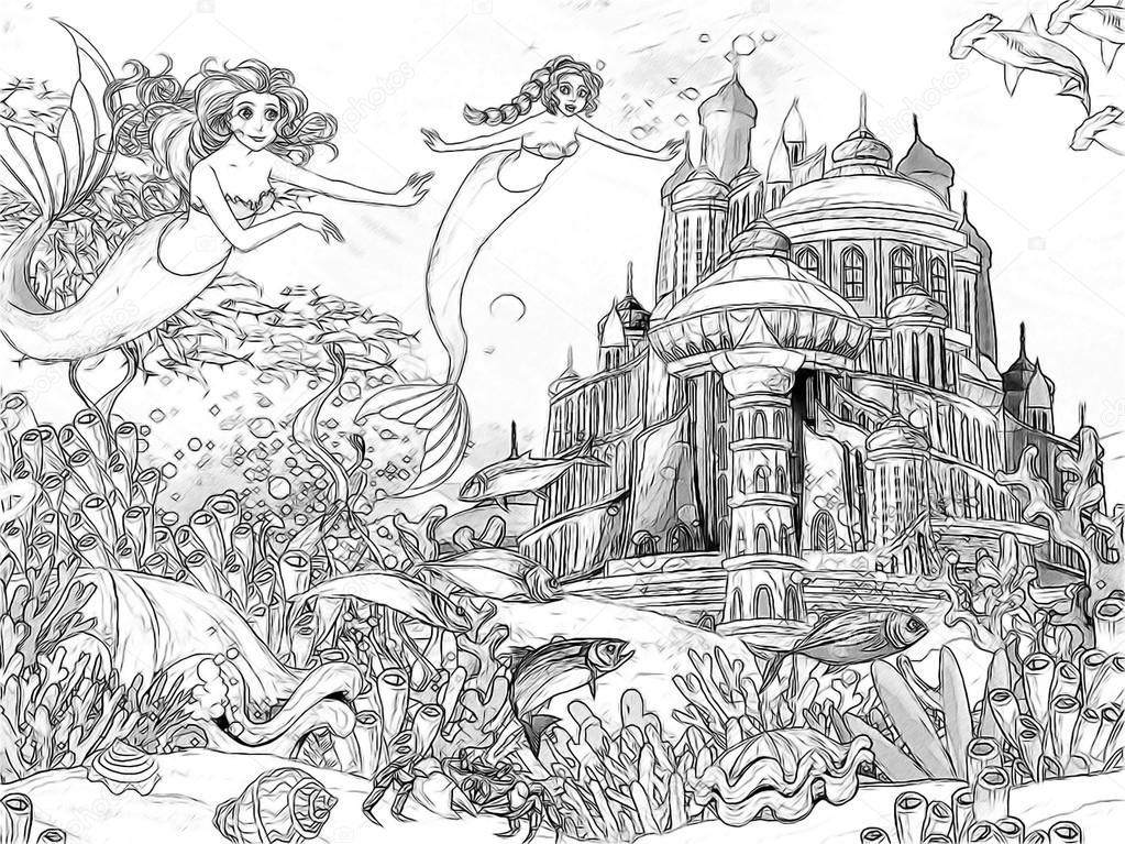 Imágenes Oceanos Para Dibujar El Océano Y Las Sirenas