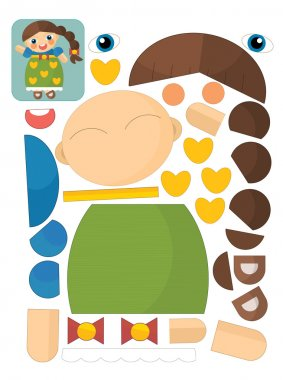 The character puzzle - illustration for the children stock vector