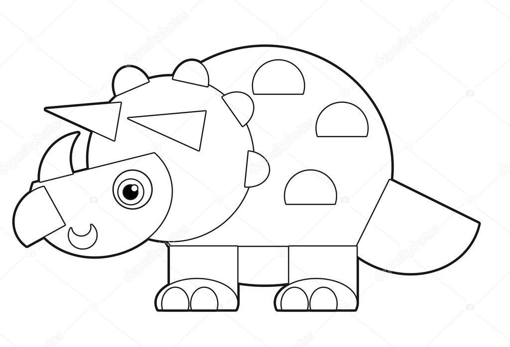 coloring page for the children photo by illustrator_hft - Cartoon Dinosaur Coloring Pages