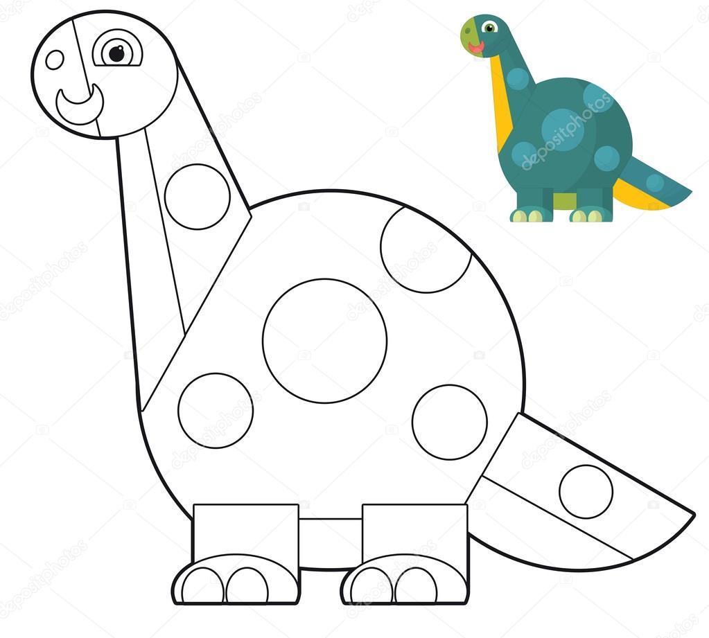 Kleurplaten Dinosaur Disney.De Cartoon Dinosaurus Kleurplaten Pagina Voor De Kinderen