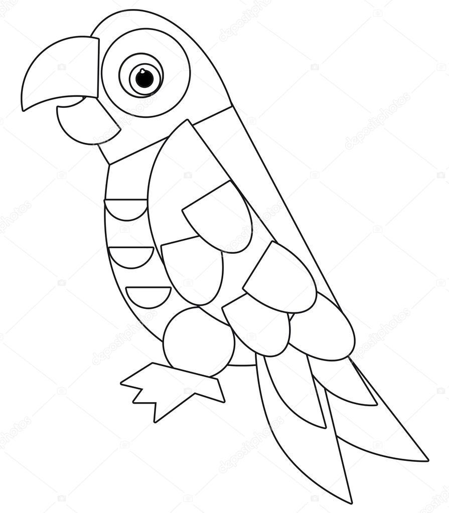 Hayvan Illüstrasyon Sayfa Boyama çocuklar Için çizgi Film Stok