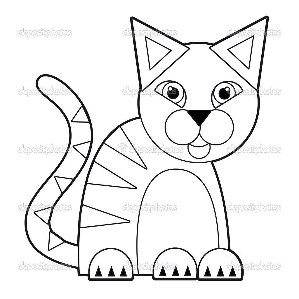 Dibujos Animados De Animales Página Para Colorear Ilustración